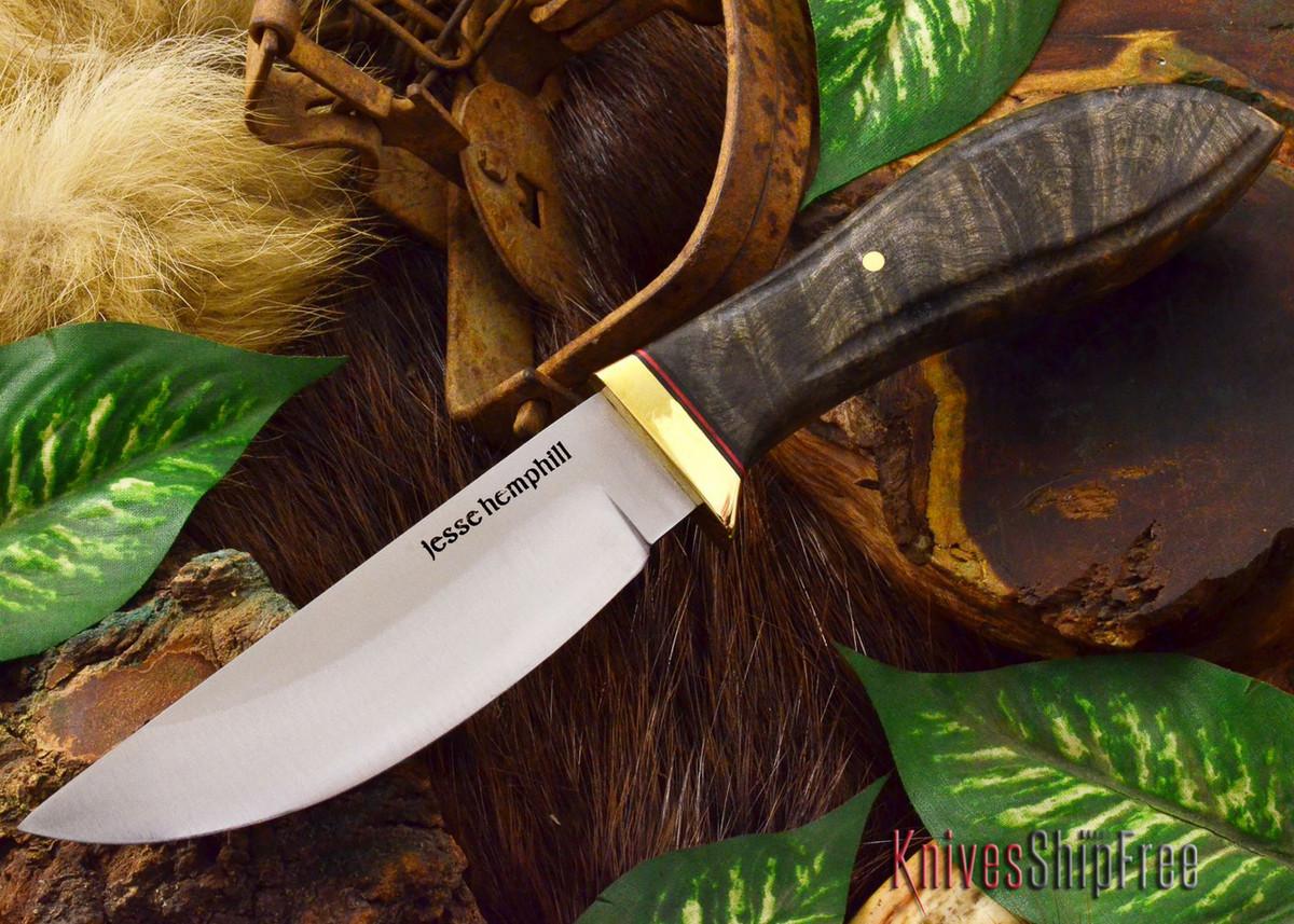 Jesse Hemphill Knives: DeKalb Series - Point Rock - California Buckeye Burl primary image