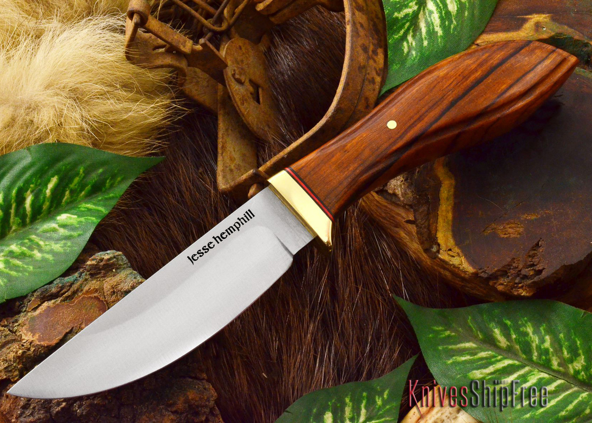 Jesse Hemphill Knives: DeKalb Series - Point Rock - Desert Ironwood - #5 primary image