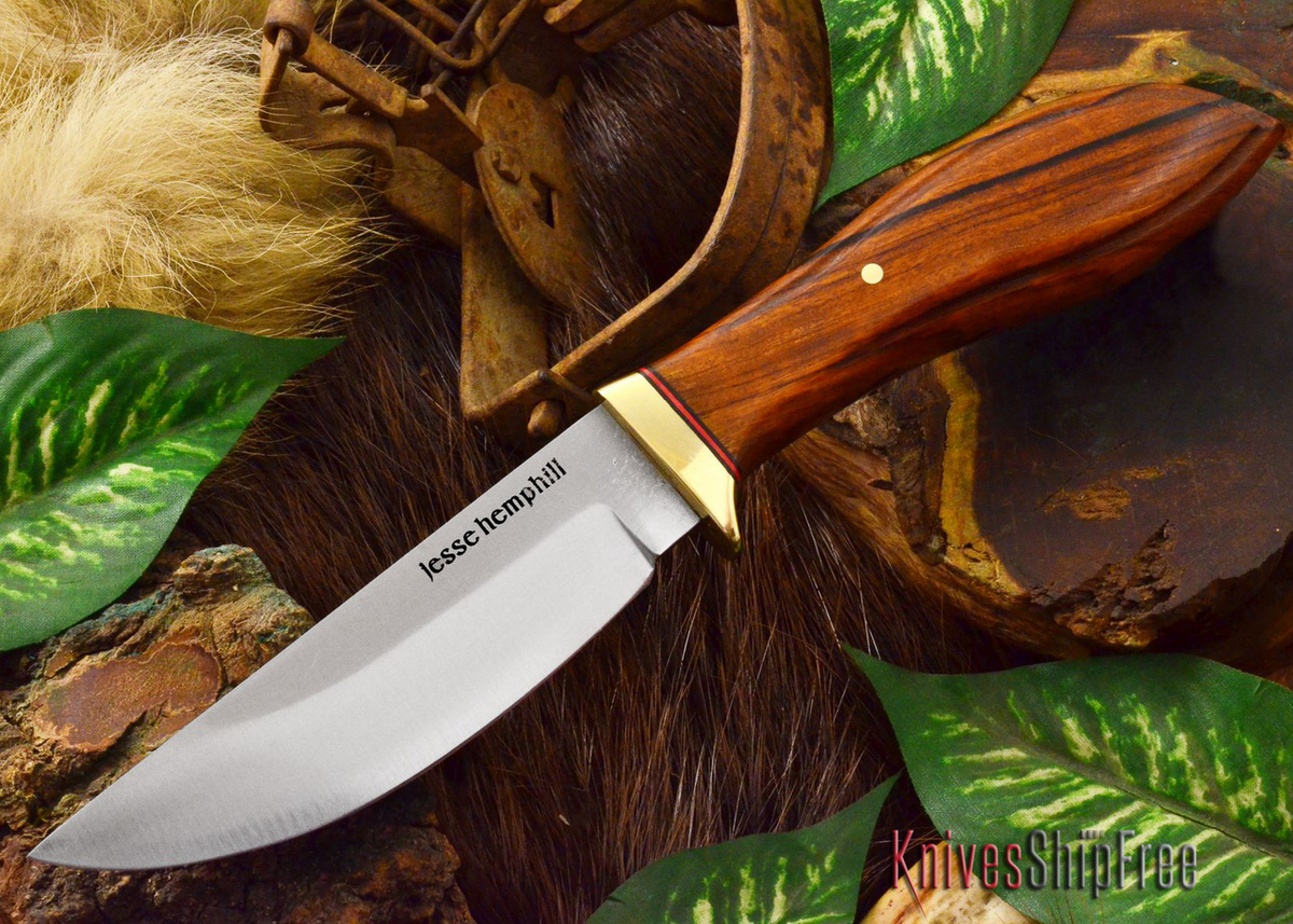 Jesse Hemphill Knives: DeKalb Series - Point Rock - Desert Ironwood - #6 primary image