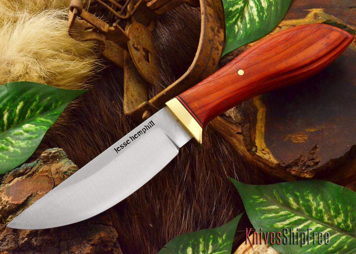 Jesse Hemphill Knives: DeKalb Series - Point Rock - Paduk - #2 primary image
