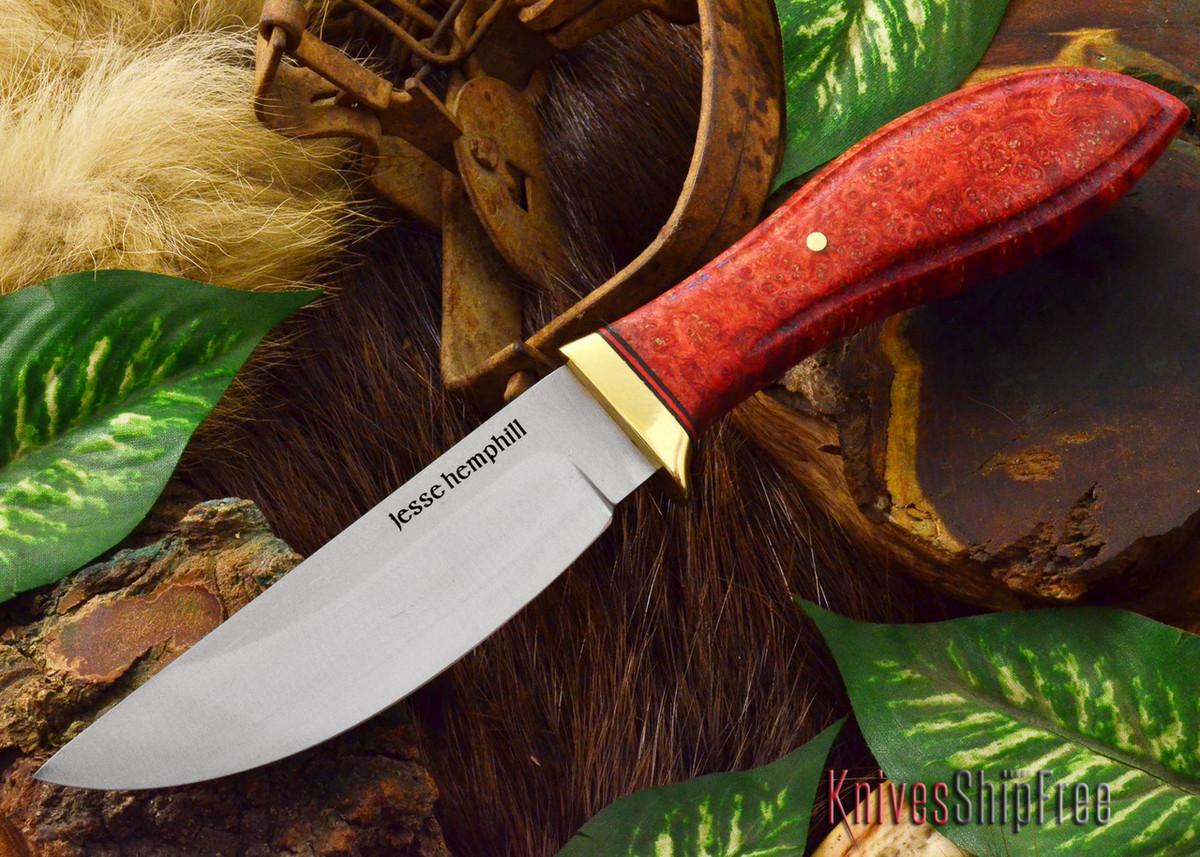 Jesse Hemphill Knives: DeKalb Series - Point Rock - Red Elder Burl - #5 primary image