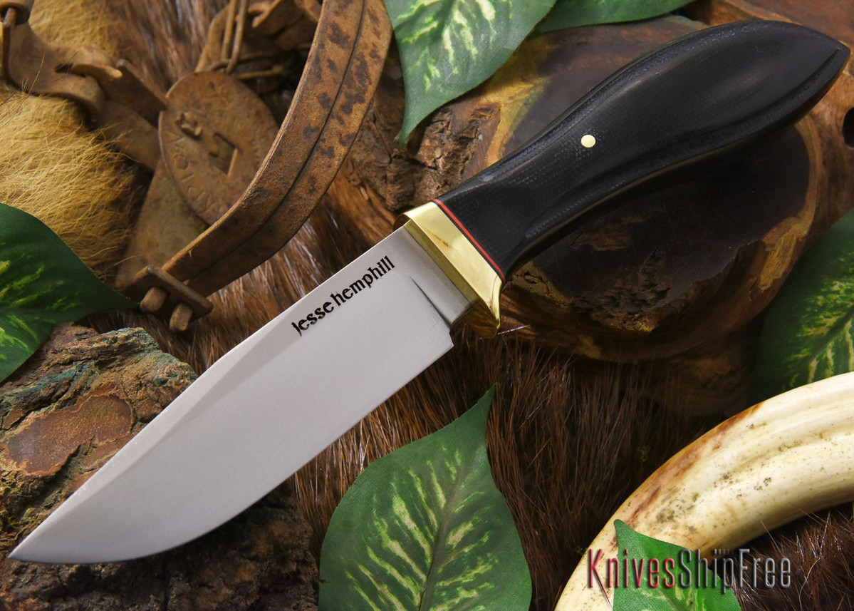 Jesse Hemphill Knives: DeKalb Series - Town Creek - Black Canvas Micarta primary image