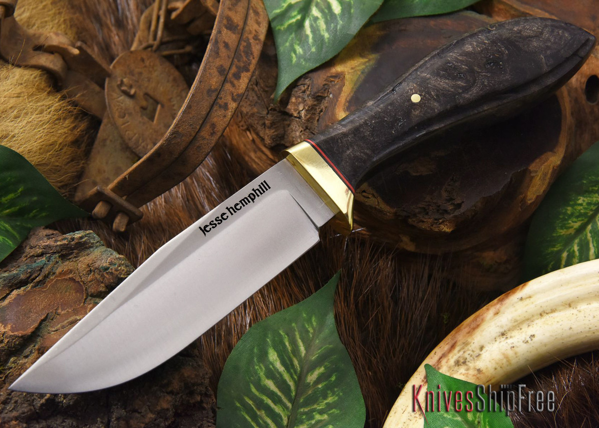 Jesse Hemphill Knives: DeKalb Series - Town Creek - Black Maple Burl - #2 primary image