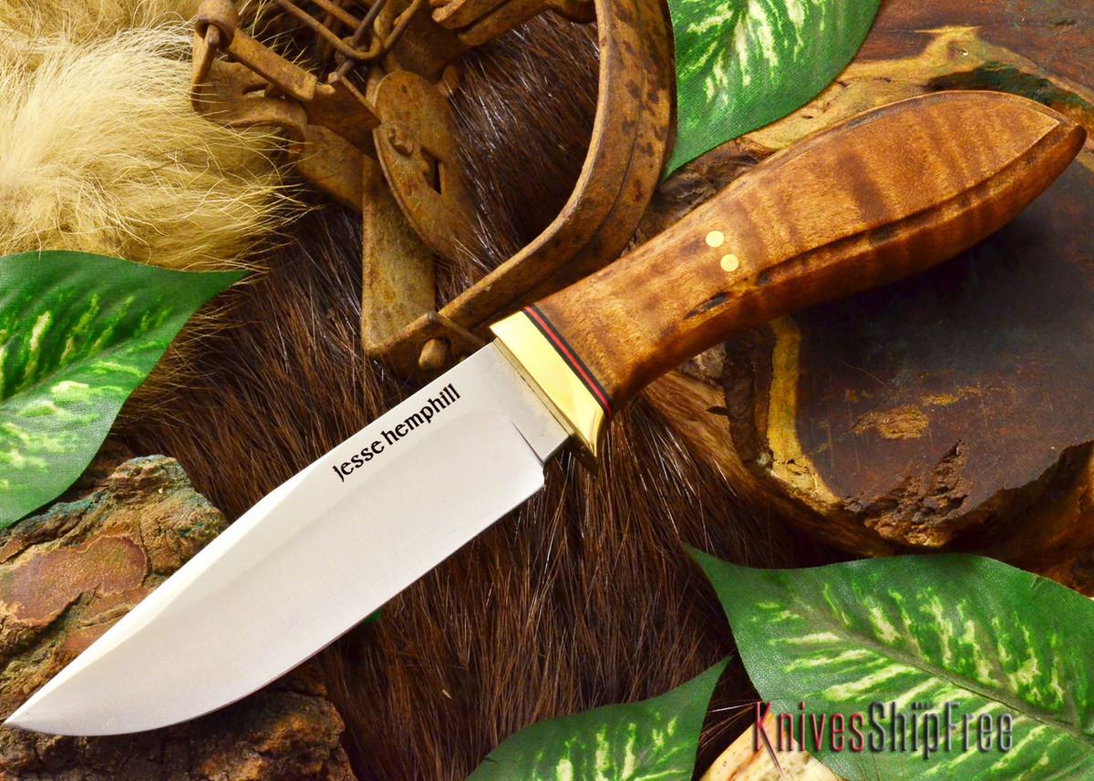 Jesse Hemphill Knives: DeKalb Series - Town Creek - Dark Curly Maple primary image
