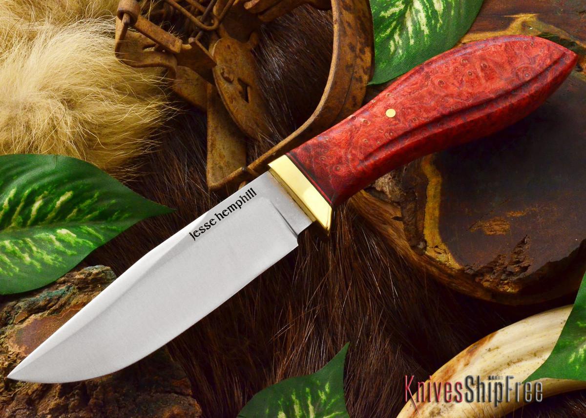 Jesse Hemphill Knives: DeKalb Series - Town Creek - Red Elder Burl - #1 primary image