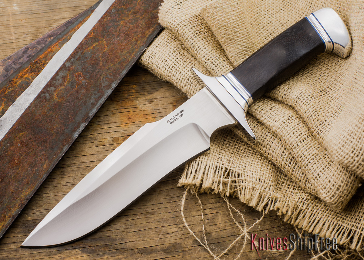 Alan Warren Knives: Custom Bowie - Blackwood - S30V - #1956 primary image