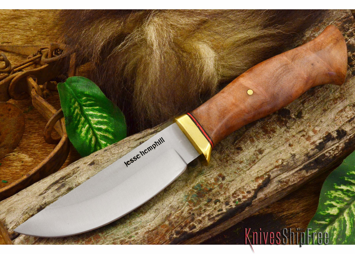Jesse Hemphill Knives: DeKalb Series - Point Rock - Camphor Burl primary image