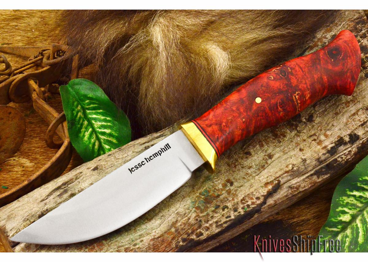 Jesse Hemphill Knives: DeKalb Series - Point Rock - Red Maple Burl primary image