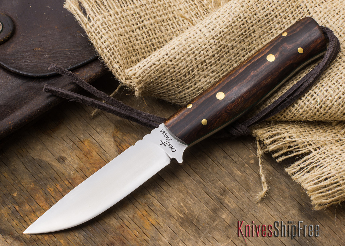 Cross Knives Bushcraft Lt Knife Desert Ironwood Green Liners