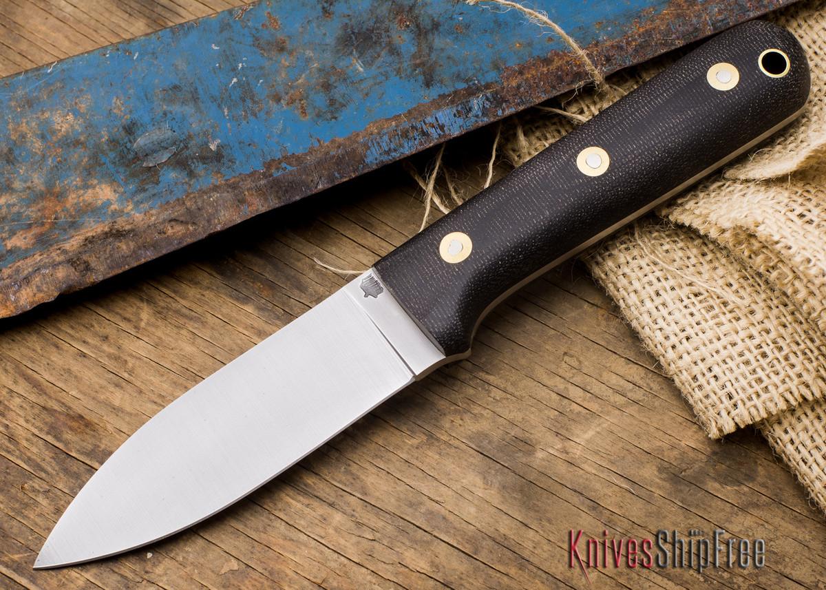 L.T. Wright Knives: Genesis - Flat Grind - CPM-3V Steel - Black Micarta - Matte primary image