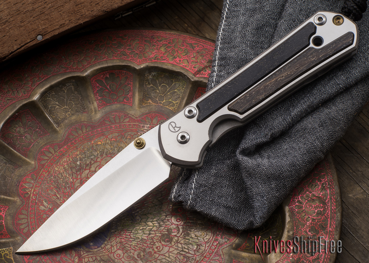 Chris Reeve Knives: Small Sebenza 21 - Bog Oak Inlay - 101003