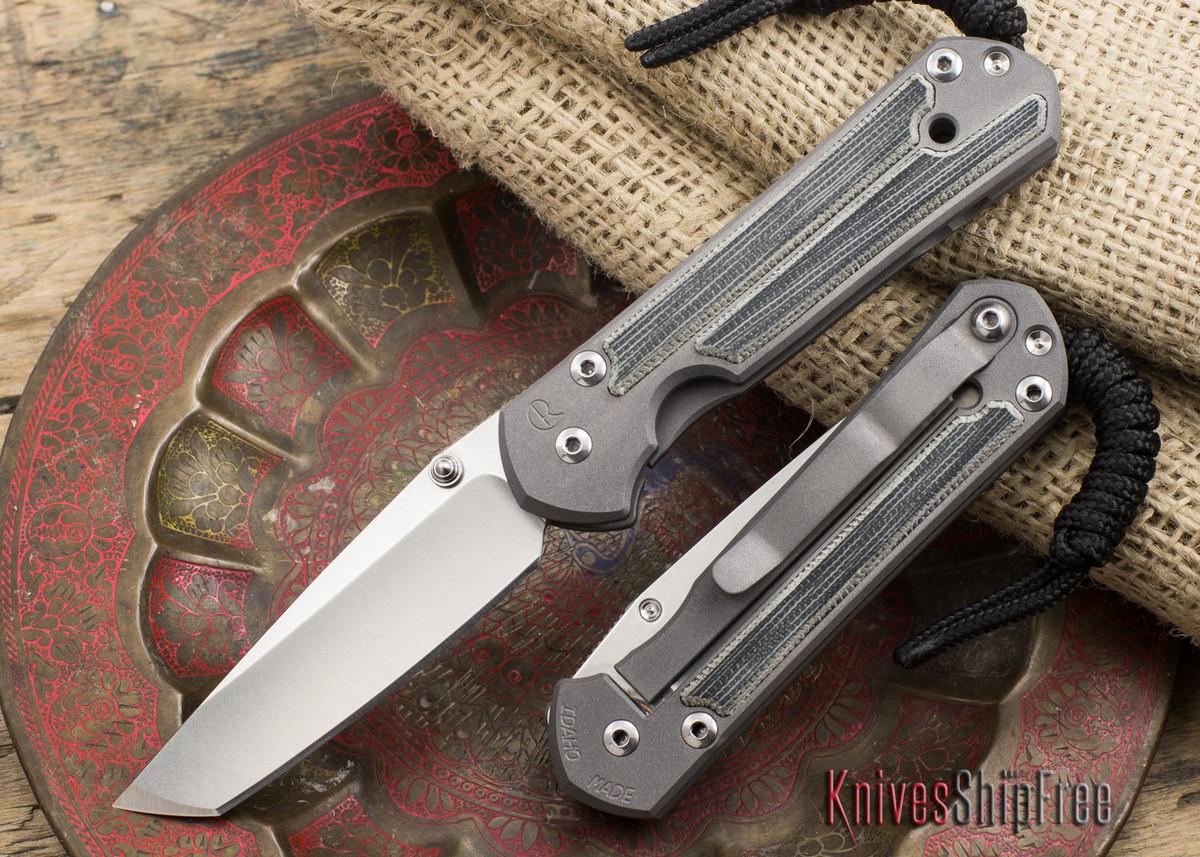 Chris Reeve Knives: Small Sebenza 21 - Tanto - Micarta Inlay primary image