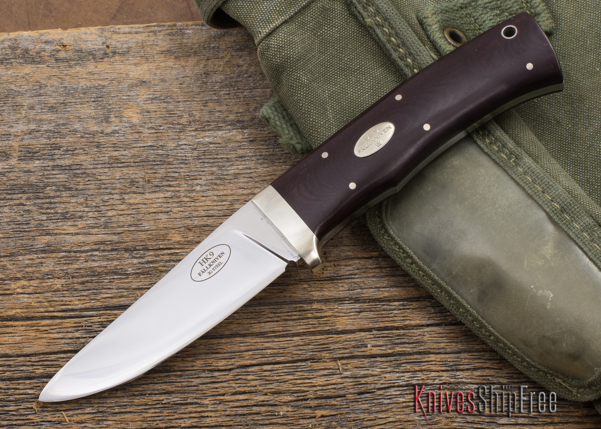 Fallkniven: HK9 - Maroon Micarta - 3G Steel - Leather Sheath primary image