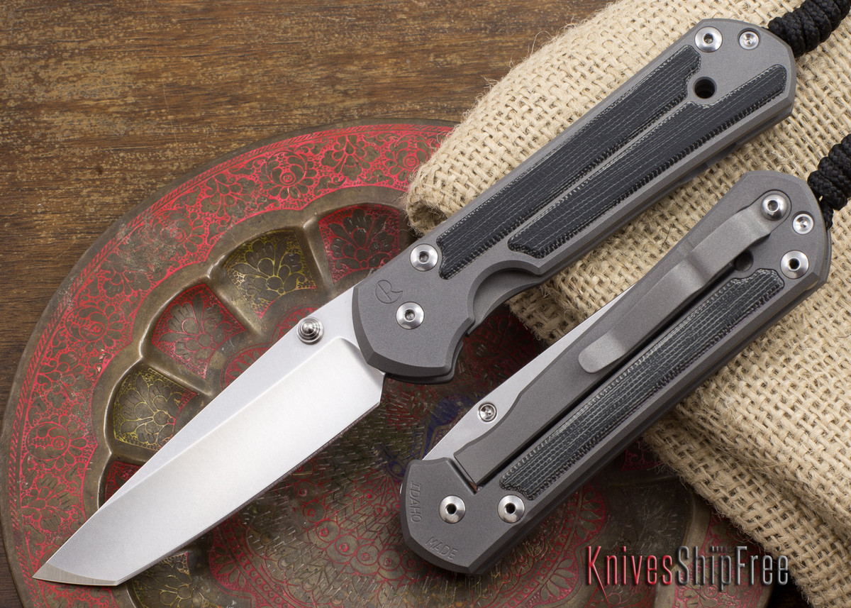 Chris Reeve Knives: Large Sebenza 21 - Tanto - Micarta Inlay primary image