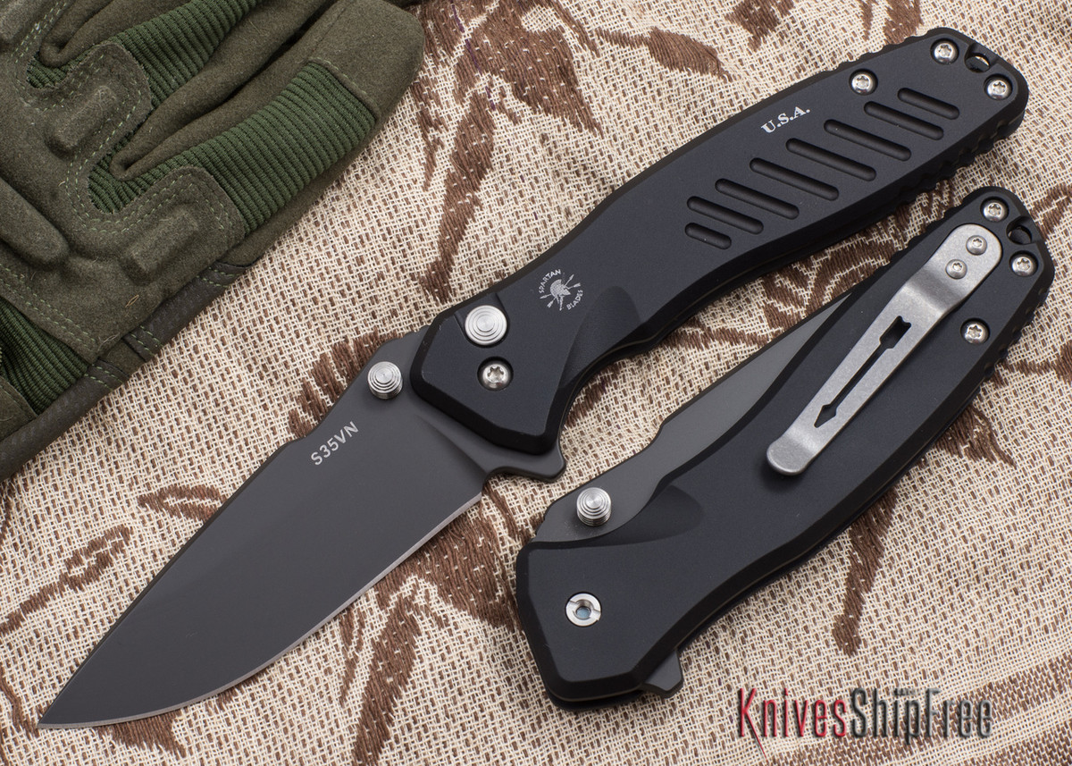 Spartan Blades: Pallas - Black PVD Finish - Black Anodized Frame primary image