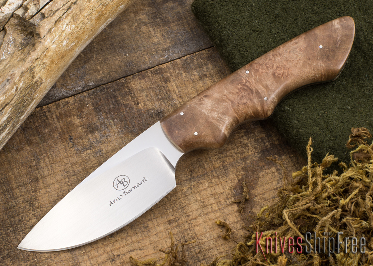 Arno Bernard Knives: Predator Series - Great White - Maple Burl - 112326 primary image
