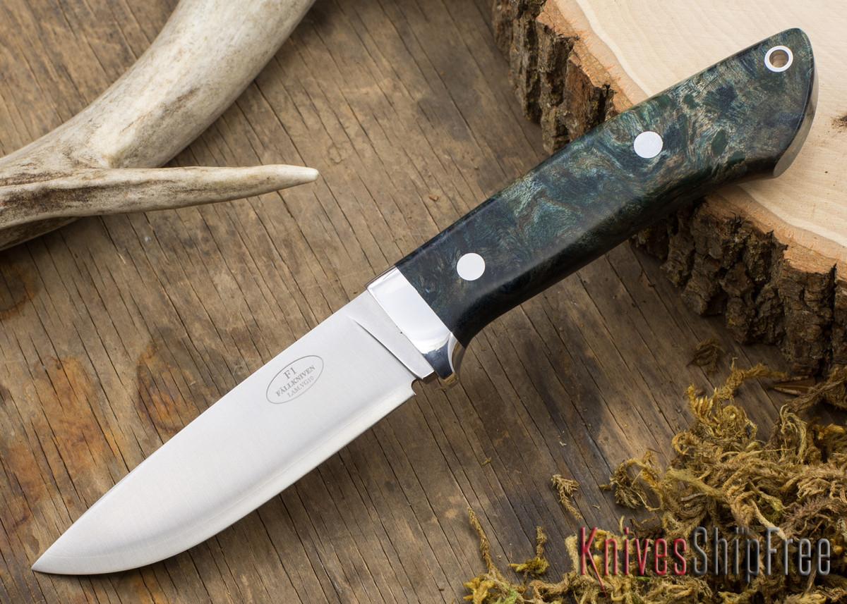 Fallkniven: Custom F1 - Blue & Black Maple Burl primary image