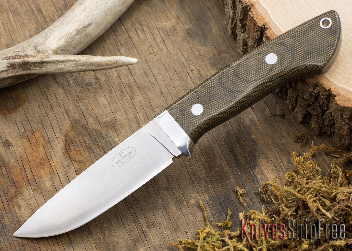 Fallkniven: Custom F1 - Green Canvas Micarta primary image