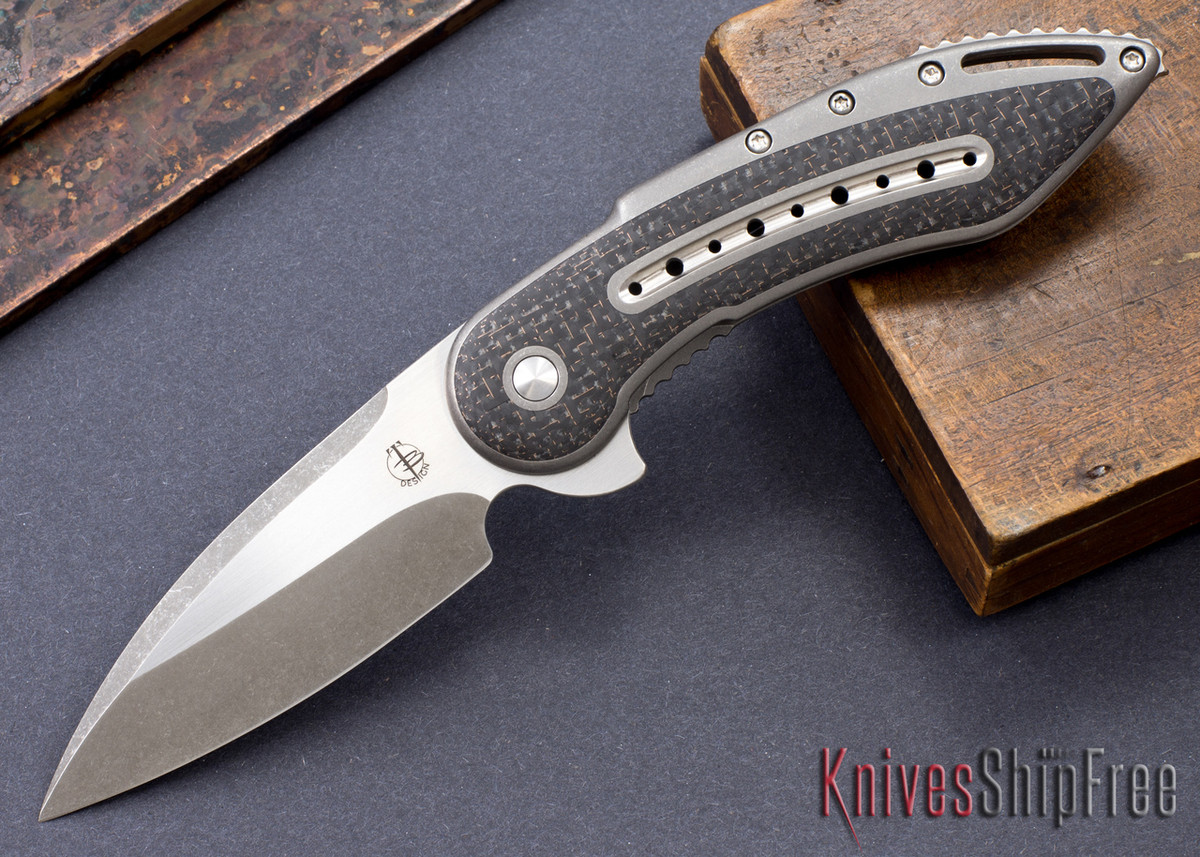 Todd Begg Knives: Custom Glimpse 6.0 - Lightning Strike Inlay - Swedge Grind - 120922 primary image