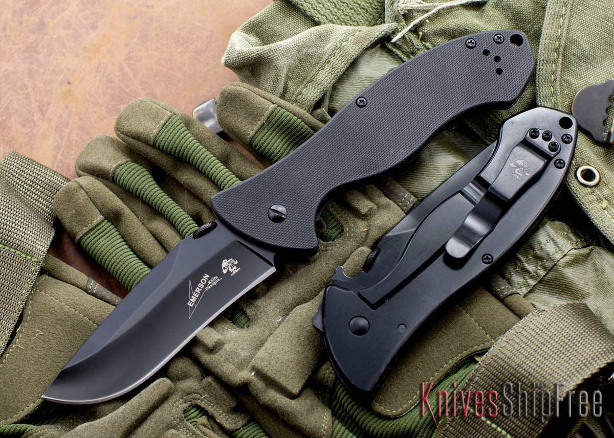 Kershaw Knives: Emerson CQC-9K - Black Finish - 6045BLK primary image