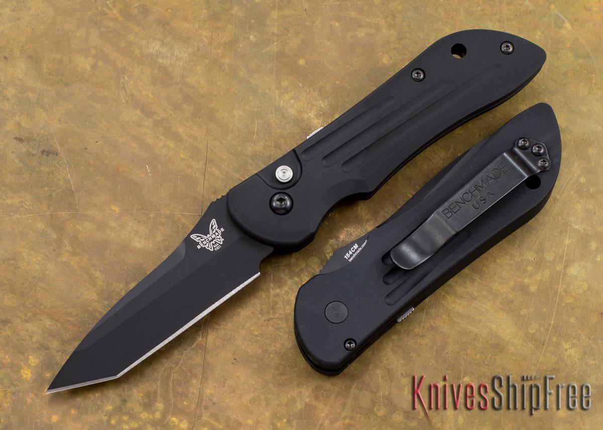 Benchmade Knives: 9501BK Mini Stryker - Auto - Black Blade primary image