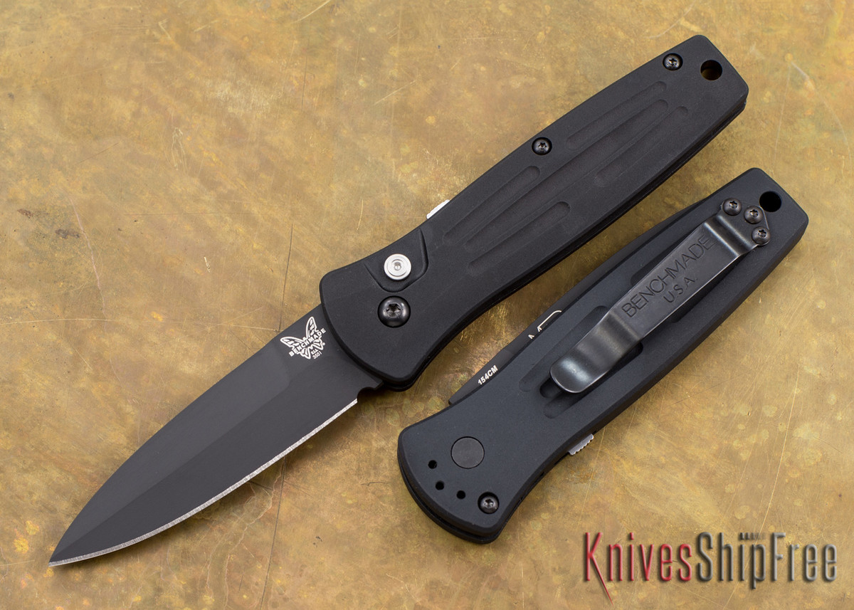 Benchmade Knives: 3551BK Mini Stimulus - Auto - Black Blade primary image