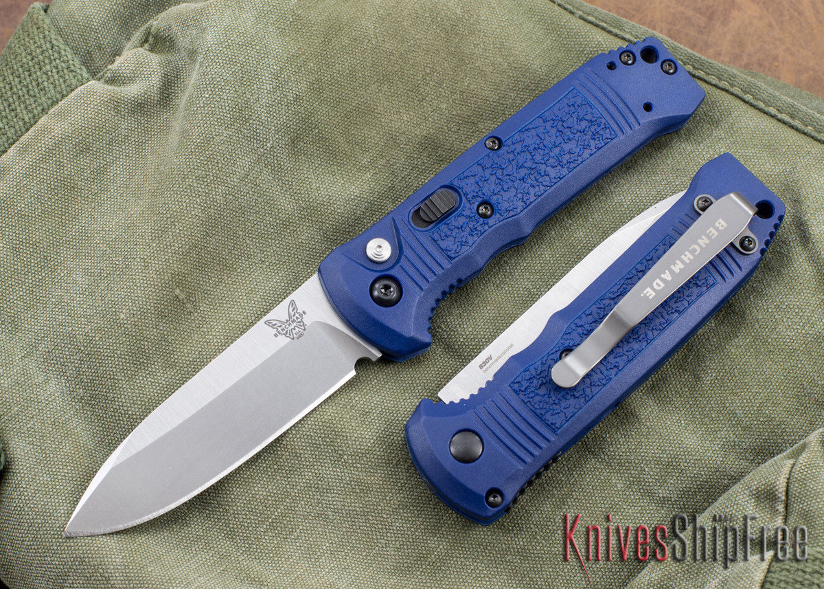 Benchmade Knives: 4400-1 Casbah - Auto - Blue Scales