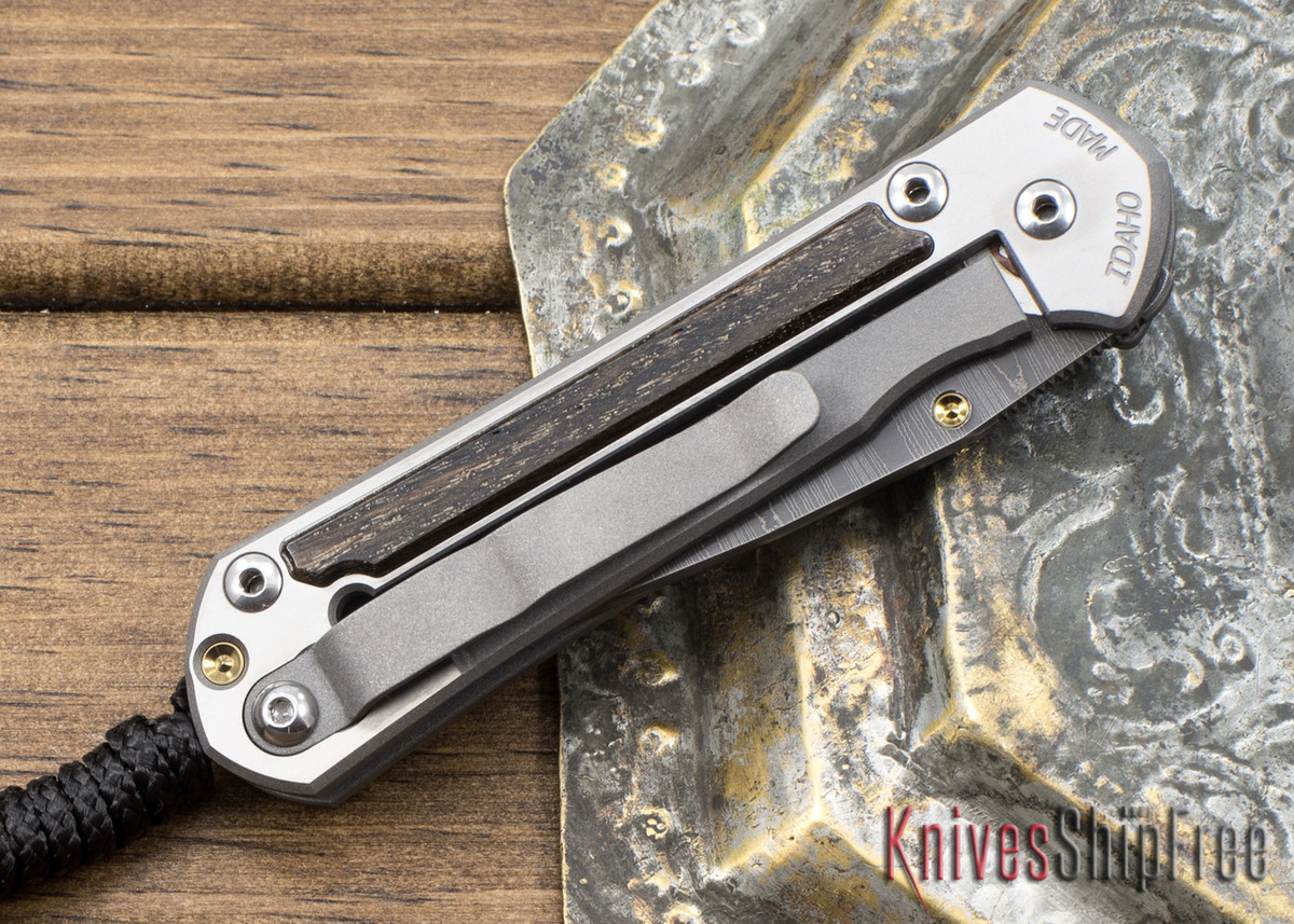 Chris Reeve Knives: Small Sebenza 21 - Bog Oak - Ladder Damascus - 021310 primary image
