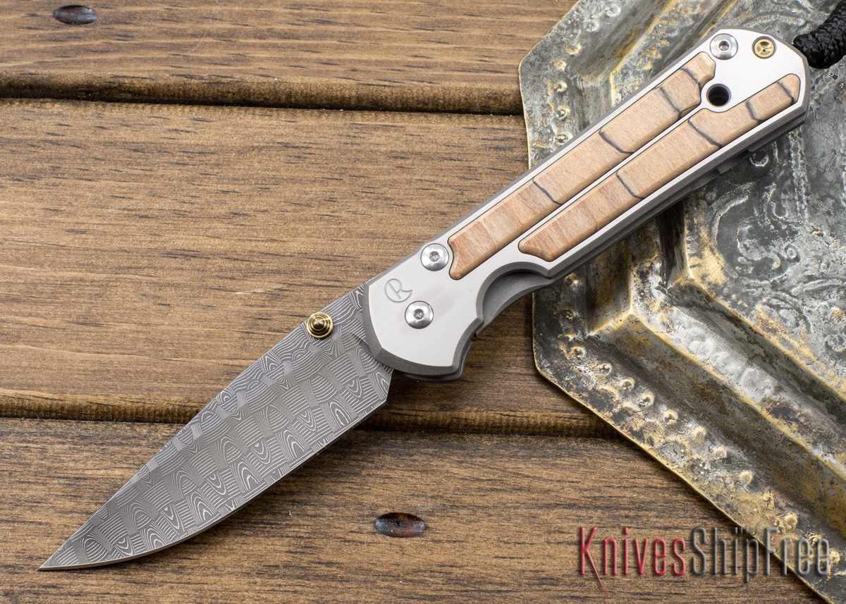 Prima Chris Reeve Knives: Large Sebenza 21 - Spalted Beech - Basketweave DY-15