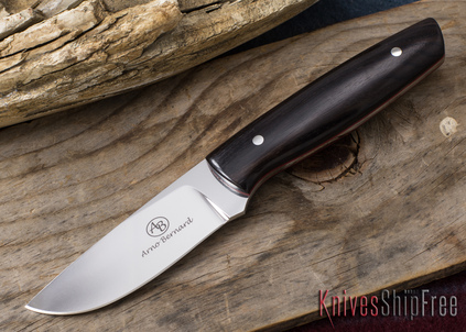 Arno Bernard Knives: Pro Hunter Series - Wildebeest - Ebony - Red Liners - 050919