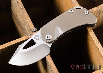Medford Knife & Tool: Eris - Bronze Anodized Titanium - Tumbled D2 Steel