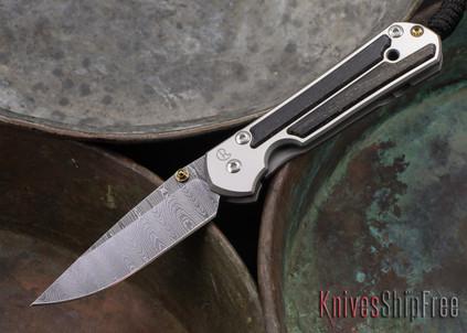 Chris Reeve Knives: Small Sebenza 21 - Bog Oak - Ladder Damascus - 071404