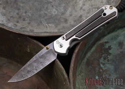 Chris Reeve Knives: Small Sebenza 21 - Bog Oak - Raindrop Damascus - 071411