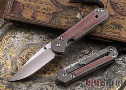 Chris Reeve Knives: Small Sebenza 21 - Red Linen Micarta Inlay