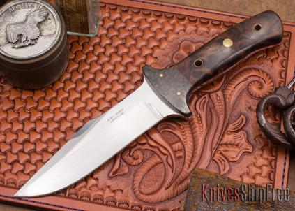 Alan Warren Knives: Fighter/Camp Knife - Ironwood - Carbon Fiber