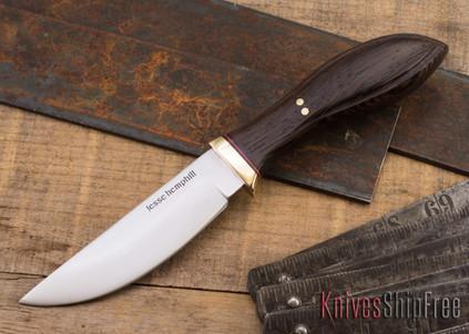 Jesse Hemphill Knives: DeKalb Series - Point Rock - Wenge