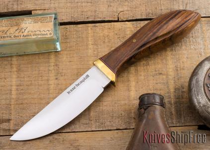 Jesse Hemphill Knives: DeKalb Series - Point Rock - Desert Ironwood - #9A