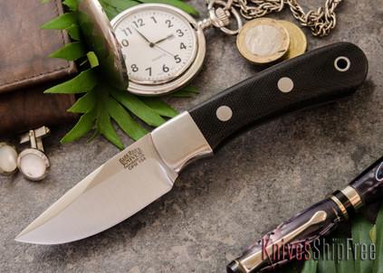 Bark River Knives: Essential - CPM-154 - Black Canvas Micarta