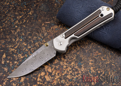 Chris Reeve Knives: Small Sebenza 21 - Macassar Ebony - Raindrop Damascus - 011859