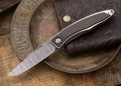 Chris Reeve Knives: Mnandi - Bog Oak - Basketweave Damascus - 021572