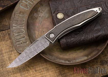 Chris Reeve Knives: Mnandi - Bog Oak - Basketweave Damascus - 021576