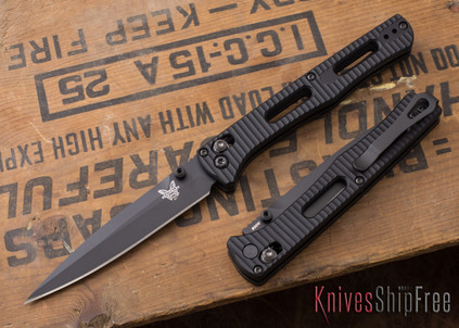 Benchmade Knives: 417BK Fact - AXIS Lock - CPM-S30V - Aluminum - Black Blade