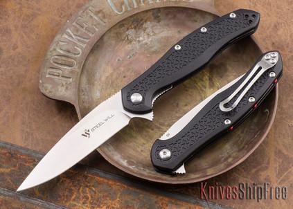 Steel Will Knives: Intrigue Mini - Black FRN - D2 Steel