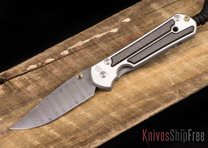 Chris Reeve Knives: Small Sebenza 21 - Bog Oak - Ladder Damascus - 041004