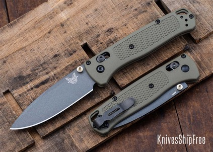 Benchmade Knives: 535GRY-1 Bugout - AXIS Lock - Ranger Green - Gray Coated CPM-S30V