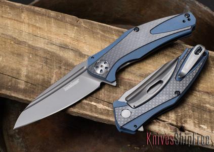 Kershaw Knives: 7007CF Natrix - Blue G-10 - Carbon Fiber