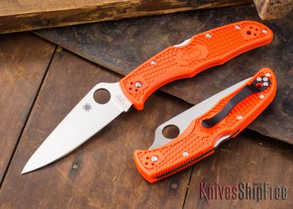 Spyderco: Endura 4 - Plain Edge - Orange FRN - VG-10