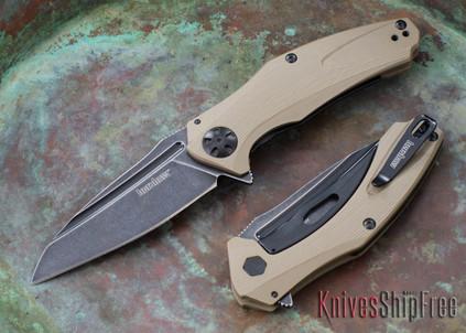 Kershaw Knives: 7007TANBW Natrix - Tan G-10 - Blackwash Blade - KVT Bearings
