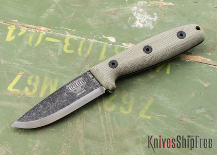 ESEE Knives: ESEE-RB3-BO - Camp Lore RB3 - Black Oxide Finish