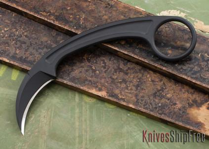 Bastinelli Knives: Pika - Black PVD N690CO - Karambit by Doug Marcaida